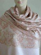 Wholesale Celia Pink Silk Paisley Revesible Shawl Wrap SELECTION PRIVEE from china suppliers