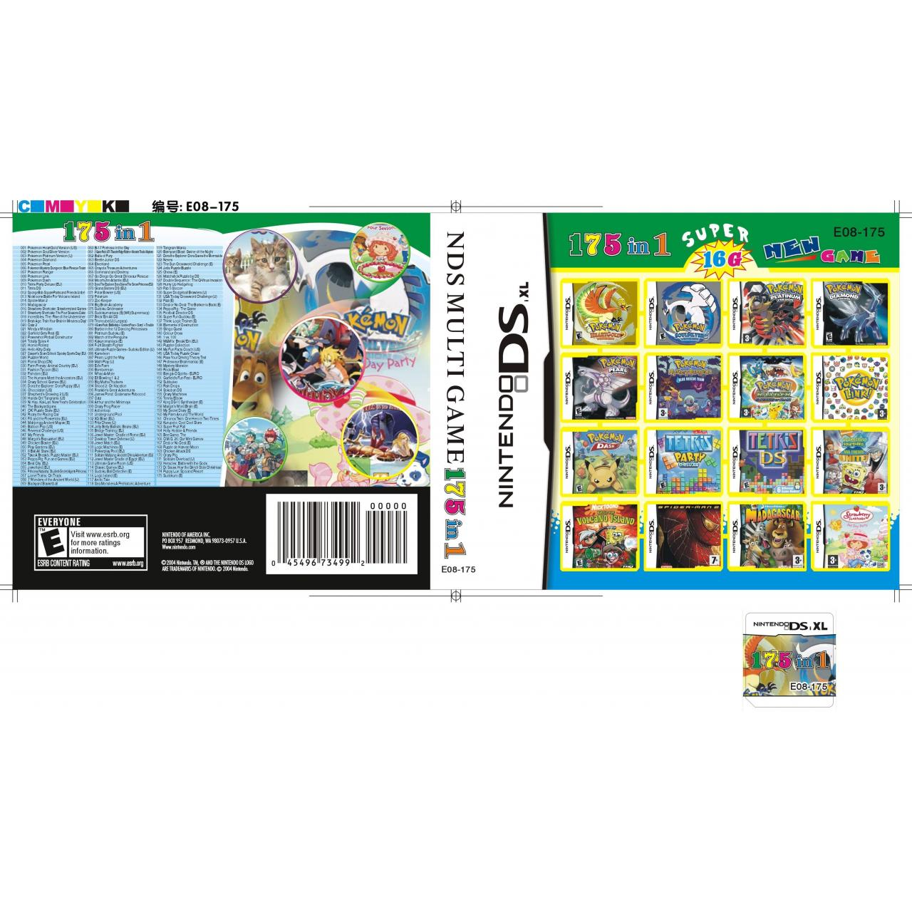 Wholesale DS Multi Game Card DSi XL/DSi/DS Lite/DS DSi Games Card 16GB (175 in 1) from china suppliers