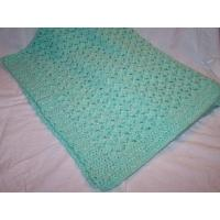 China Crochet Shell Baby Afghan/Blanket on sale