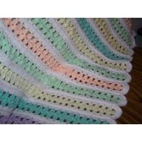 China Crochet Stripe Baby Afghan/Blanket on sale