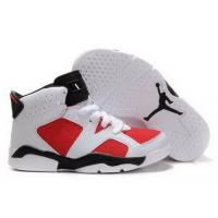 Wholesale Kids Air Jordan 6 VI White Black Red from china suppliers