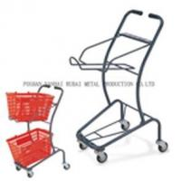 China Sprayed two baskets Shopping cart on sale