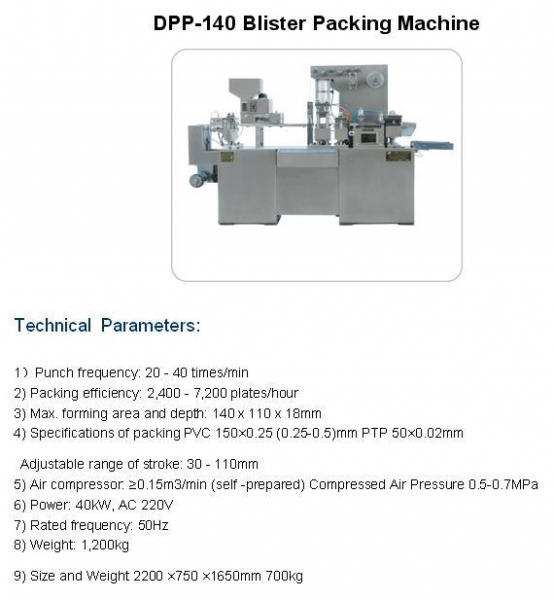 Quality DPP-140 Blister Packing Machine for sale
