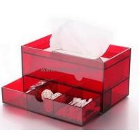 China Customized clear acrylic box with dividers plexiglass acrylic rectangle box paper tissue box BTB-139 on sale