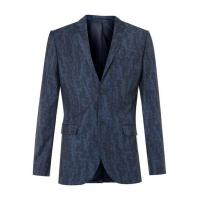 Wholesale Blue Wool Blend Abstract Print Skinny Fit Suit Jacket from china suppliers