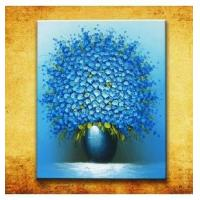 China Pure hand-painted oil paintings, four seasons Blue on sale