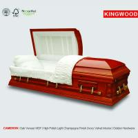 Wholesale CAMERON glass casket with nice casket handle from china suppliers