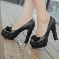 Wholesale Shoespie Cute Bowtie Chunky Heel Platform Heels from china suppliers