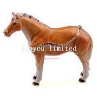 TBP0014Y-horse trinket jewelry box horse figurine statue metal home decor