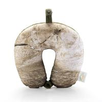 Microbead Neck Pillow with Wood Annual Ring Pattern NP016-1