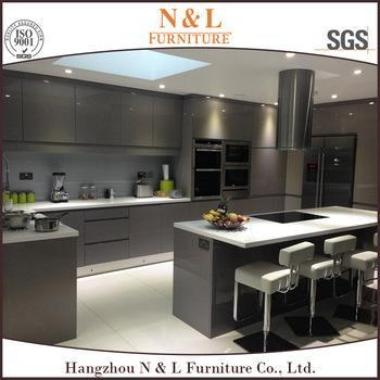 2015 china best quality modern handle free lacquer kitchen for Best quality kitchen cabinets