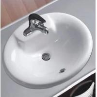 Buy cheap Bathroom suite porcelain pedestal wash basin from wholesalers