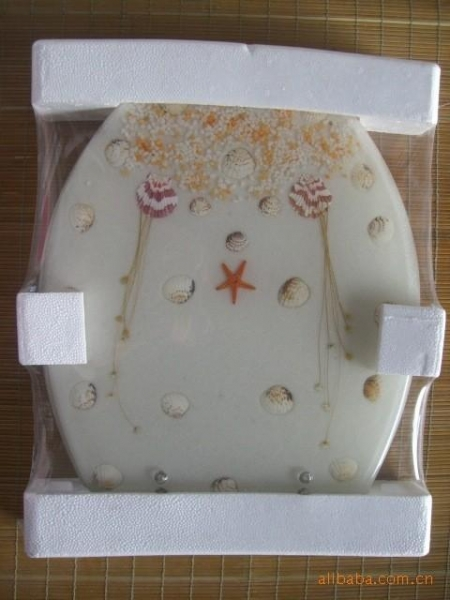China Bathroom Colourful Resin Toilet Cover Plate