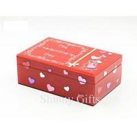 Buy cheap Fashion valentines day gifts Glass Jewelry Box Wedding Favor from wholesalers