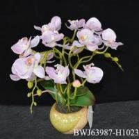 Real Touch Silk Flowers Latex Orchid