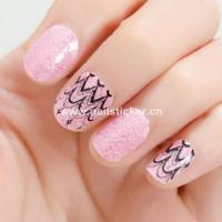 ... bling pink glitter nail art design waterproof nail art sticker manufac
