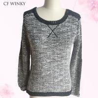 Wholesale 2016 Fashion Circle Black And White Ladies Sweater from china suppliers