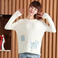 Wholesale 2016 Fashion Patched Knitted Ladies Knitted Top from china suppliers