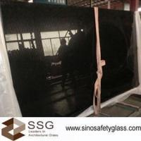 Wholesale 30mm black colour ceramic frit glass for floor max size 2000*3000mm from china suppliers
