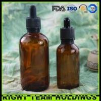 Wholesale New Product 60ml 120ml amber glass oil bottle with childproof tamper evident cap from china suppliers