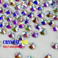 Wholesale Crystal AB hot fix stone, iron on flat back rhinestone, hot fix strass crystals for decoration from china suppliers