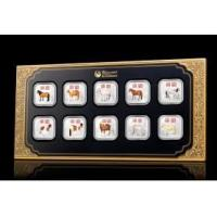 China 2014 Year of the Horse 1oz Silver Square Ten-Coin Collection on sale