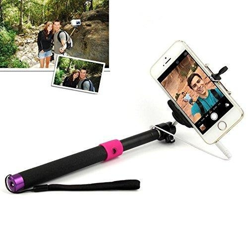 jhm 811 selfie extendable monopod with jack cable and remote button for. Black Bedroom Furniture Sets. Home Design Ideas