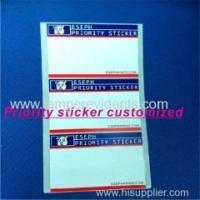 Wholesale 2014 Latest Style Priority Sticker Customized from china suppliers