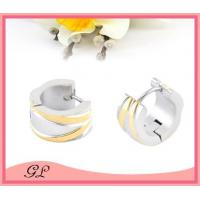 Wholesale GL-EC02024 Big hoop earrings for man stainless steel earings wholesale from china suppliers