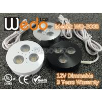 China WD-300A 12V 3W LED Cabinet Light / LED Puck Light with CE cUL UL Certified on sale