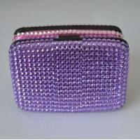 Wholesale Aluminum Card Wallets/Diamond coated/Purple from china suppliers