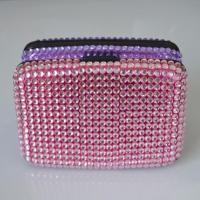 Wholesale Aluminum Card Wallets/Diamond coated/Pink from china suppliers