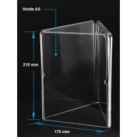 Wholesale Acrylic Table Tent Clear acrylic A5 menu holder with three sides from china suppliers