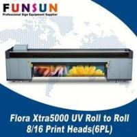 China Flora Xtra5000 UV Roll TO Roll Printers with 5/10 Print Heads(6PL) on sale
