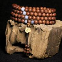 Buy cheap Papua sandalwood 8mm108 teeth Wooden Rosary bracelets high oil tight from wholesalers