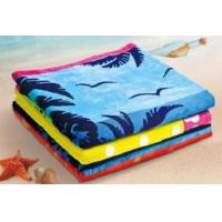 Buy cheap Towel Cotton Yarn Dyed Jacquard Beach Towel from wholesalers