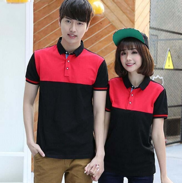 Quality Mercerized Color Combination Collar Design Polo Shirts for sale