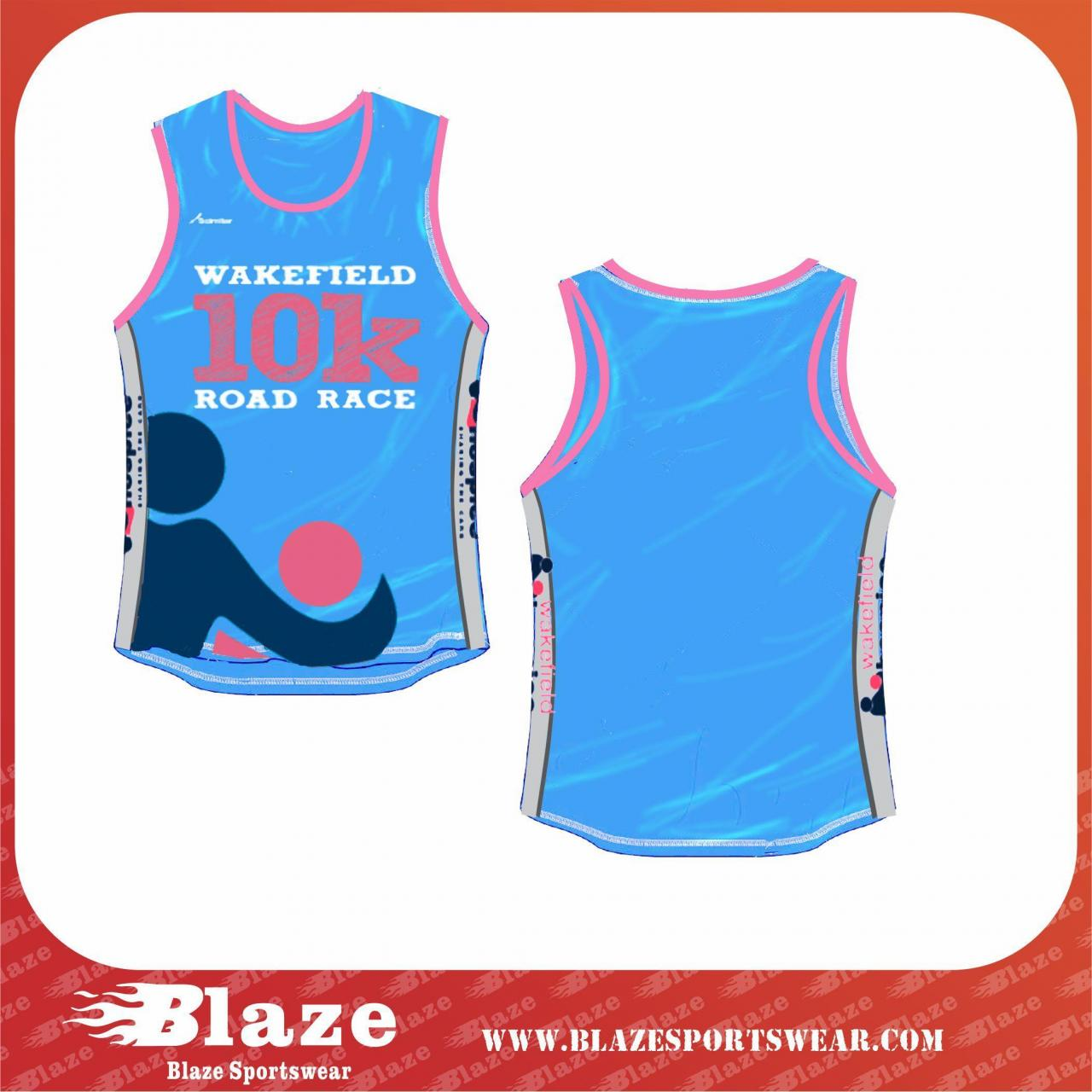 China Custom OEM dye sublimation running vest for women on sale
