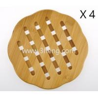 China Bamboo Curve Trivet Mat,Bamboo heat resistant table mats on sale