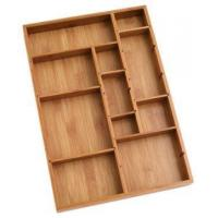 Buy cheap Durable Bamboo Tray Drawer Organizer For Utensils Cutlery from wholesalers