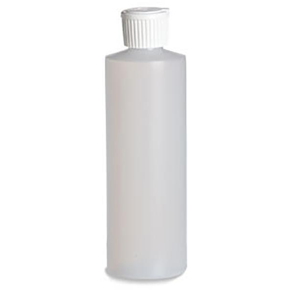 Quality 8 oz Natural HDPE Plastic Bottle with Fliptop for sale