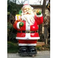 Wholesale Giant Varnished Fiberglass Santa Claus Christmas Figurines Sculpture from china suppliers