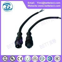 Wholesale M16 waterproof male female black PVC2 core plugs from china suppliers