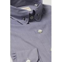 Wholesale Pin Collar Shirt Navy Check from china suppliers