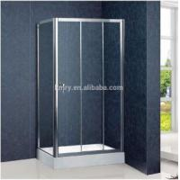 Wholesale Products Framed Corner 3 Sliding Bi Fold Shower Door ,800X1000mm, Chrome Finish (KT4001) from china suppliers