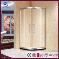 Wholesale Offset Neo Round Sliding Shower Enclosure, Anti-Lift Safety Rollers,Quadrant Curved Glass (KT6609) from china suppliers