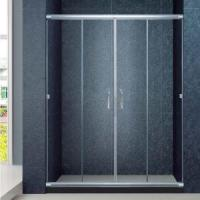 Wholesale Products Semi-Frameless Bathrom Sliding Door, Fits 56-60 inch Opening, Clear Glass(KD6307) from china suppliers