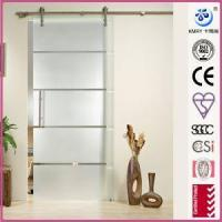 Products Frameless Sliding Glass Door,Custom Size, Stainless Steel Hardware,Chrome (KT9002)