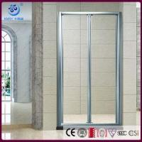 Wholesale Products Pivot BiFold Shower Screen, 2 Fold 8mm Glass, Brushed Nickel Hinges(KD3207) from china suppliers