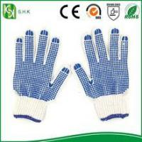 Blue PVC Coated String Knit working cotton Gloves